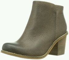 Clarks Ladies Marble Cool Dark Brown Leather Ankle Boots Size 6.5/40 E wide fit