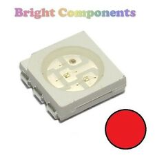 10 x Red PLCC-6 LED (SMD SMT 5050) - Ultra Bright - UK - 1st CLASS POST