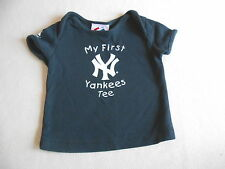 Unisex Baby Clothes 3-6  Months-Cute Yankees  T Shirt Top
