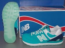 WOMENS NEW BALANCE WL 574 SLY in colors TEAL / ARCTIC BLUE / WHITE SIZE 8