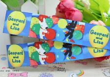 "BTY 1"" Cartoon Gaspard And Lisa Grosgrain Ribbon Hair Bows Scrapbooking Lisa"