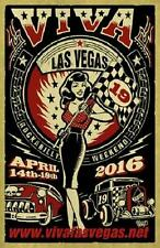 "Viva Las Vegas Rockabilly Weekend POSTER VLV19 Vince Ray 24"" X 36"" Lithograph"