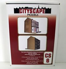 Cityscape models 1/76 Scale - CS6 Flat pack card Georgian houses block diorama