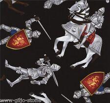 Medieval Ritter Mittelalter Patchworkstoff Stoff Kinder Patchwork Baumwollstoffe