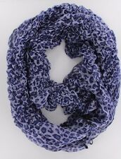 WOMEN'S FASHION STYLISH LEOPARD ANIMAL PRINT CURLY WAVE INFINITY SCARF
