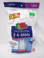 5 Big Boys Tank Top (SM 2-4 )  A-shirt White Fruit of the Loo  #501B # 6006
