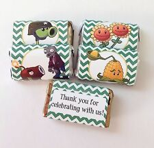 50 PLANTS VS ZOMBIES MINI CANDY BAR WRAPPERS PARTY FAVORS
