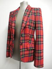 """Tommy Hilfiger cute red tartan check fitted blazer jacket XS 4 32"""" bust UK8"""