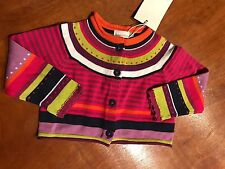 Catimini NWT Cropped Baby Girl Sweater Toddler Size 12 Month 74 Adorable RV $73
