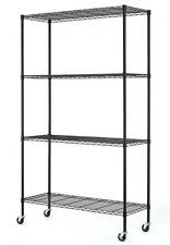 "82""x48""x18"" Commercial 4 Tier Shelf Adjustable Steel Wire Metal Shelving Rack 74"
