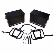 Tusk Aluminum Panniers w/ Pannier Racks Medium Black SUZUKI DRZ400S DRZ400SM