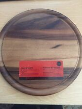 T&G Woodware Acacia Wood Tuscany Round Board With Groove In