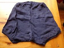 VINTAGE 1960s NAVY BLUE COTTON REGULATION SCHOOL KNICKERS