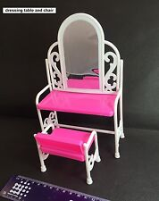 Barbie Doll House Dressing Table & Chair set Accessories Furniture Toys New