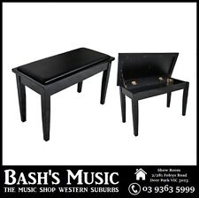 AMS Piano Bench Stool Wooden Padded Seat w/ Music Storage Compartment