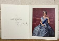 HAND SIGNED AUTOGRAPH -ELIZABETH ROYAL, QUEEN MOTHER- 1968 CHRISTMAS YEAR CARD