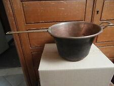 Vecchia pentola in rame manico ottone 21 x 13  cm per 0.800 kg