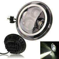 7 Inch Round LED Headlights with Halo Angle Eyes for Jeep Wrangler JK LJ 97-2015