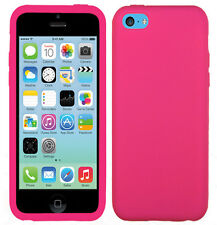 Apple iPhone 5C Rubber SILICONE Soft Gel Skin Case Phone Cover + Screen Guard