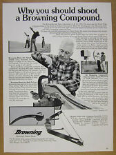 1977 Browning Compound Bows Stalker II & Harry Drake photos vintage print Ad