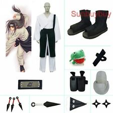Naruto Shippuden Hyuuga Neji Halloween Cosplay Costume Naruto set with wig