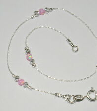 WHOLESALE LOTS Sterling Silver 925 Laser Cut and OPAL BEAD BRACELETS Your size