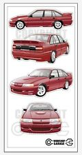 New! Collectable VN SS Group A Holden Commodore  Medium Sticker Set