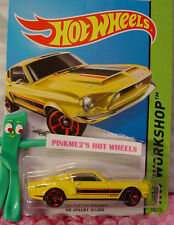 Case P 2015 Hot Wheels '68 SHELBY GT500 #226 US☆Yellow;Red mc5☆Muscle Mania☆1:64