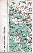 78 Montfort l'Amaury St-Léger Poigny 1925 carte/lin (partie) orig. Garancières