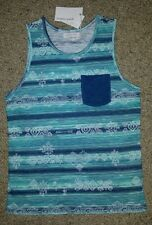 "BNWT ""PUMPKIN PATCH"" BOYS BLUE SLEEVELESS TOP ** SIZE 8"
