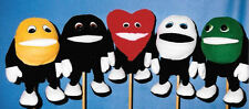 Gospel Goodies M&M Candy Ventriloquist Puppet Set of 5-VBS Wordless Book colors
