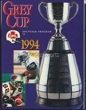 1994 CFL Football Grey Cup Prog Baltimore vs B.C. w/Ham,Austin  1st Cdn vs US GC