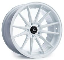 Cosmis Racing R1 18x8.5 5x100mm ET35 White Wheels Fits Corolla Celica Wrx Brz