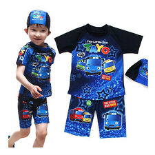 Tayo blue star swim suit 3pcs set for 5~6 years old boy (standard & sweety)