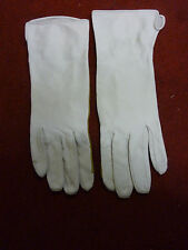RAF WHITE LEATHER FLYING GLOVES REINFORCED PALM SIZE: 7.5 GENUINE RAF ISSUE