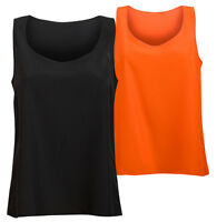 Womens Sleeveless Light Chiffon Top Ladies Relaxed Fit Summer Vest Tops