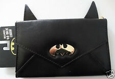 Batman Logo Dc Comics Ears Envelope Chain Wallet Nwt