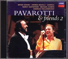PAVAROTTI & FRIENDS 2 Bryan Adams Bocelli Andreas Vollenweider Gustafson 1994 CD