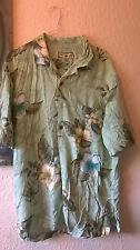 Vintage Hawaiin Green Carribean Rayon Retro Men's shirt M/L - great condition