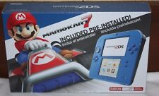 Nintendo 2DS Mario Kart 7 Bundle Electric Blue Handheld System Brand New In Box