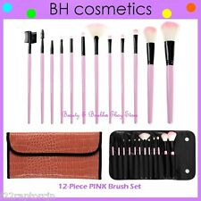 NEW BH Cosmetics 12-Piece PINK Synthetic Makeup Brush Set w/Case FREE SHIPPING