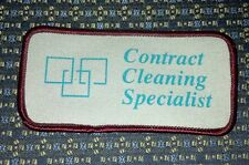 """CONTRACT CLEANING SPECIALIST Sew-On Patch 4""""X2"""""""