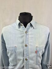 Vintage Levis Denim Shirt Blue Size L. Excellent Condition. Free Delivery AA207