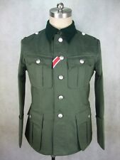 WWII German M36 Officer Summer HBT Field Tunic Jacket
