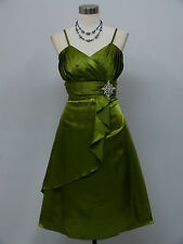 Cherlone Green Prom Ball Evening Bridesmaid Formal Knee Length Dress Size 14-16