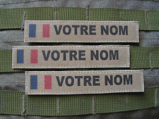 Patch bande patronymique KAKI + FRANCE OPEX = lot de 3