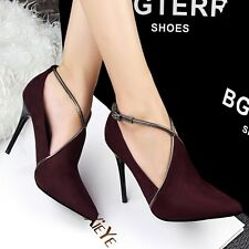Stilettos Sexy Hollow Out Slim High Heels Ankle Boots Strappy Party Women Shoes