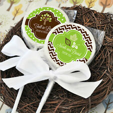 24 Fall For Love Autumn Lollipops Personalized Lollipop Wedding Shower Favors