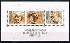 Germany Famous Writers Noble Prices in Literature Souvenir Sheet 1978s MNH
