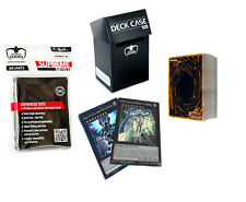 *50* YuGiOh! Cards Pack with XYZ, Holos, Ultimate Guard Black Deck Box & Sleeves